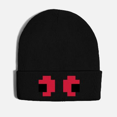 Ghost Pixel 8 Bit Pixel Spooky Ghost Eyes - Winter Hat