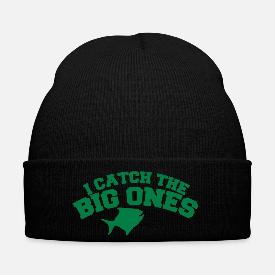 Catching Caps & Hats - I CATCH THE BIG ONES! funny fisherman fishing - Winter Hat black