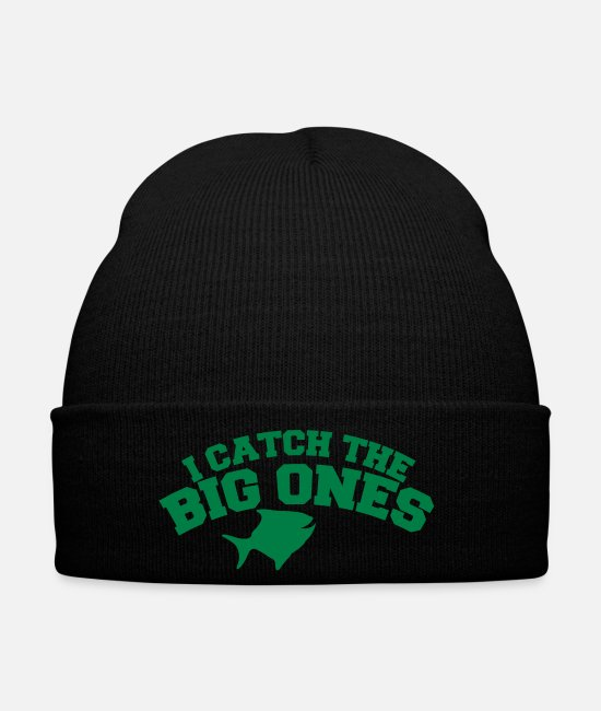 Father's Day Caps & Hats - I CATCH THE BIG ONES! funny fisherman fishing - Winter Hat black