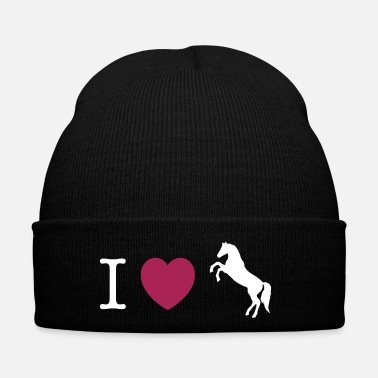 Konie I love Ponies wild horse - this design lets you change all colours - Czapka zimowa