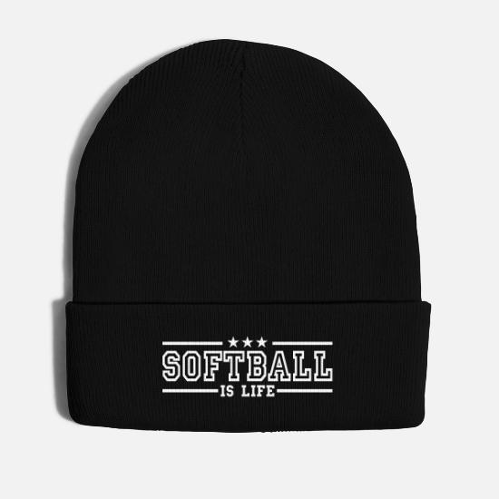 Ball Caps & Mützen - softball is life deluxe - Wintermütze Schwarz
