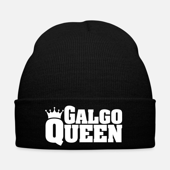 Dog Owner Caps & Hats - GALGO QUEEN - Winter Hat black