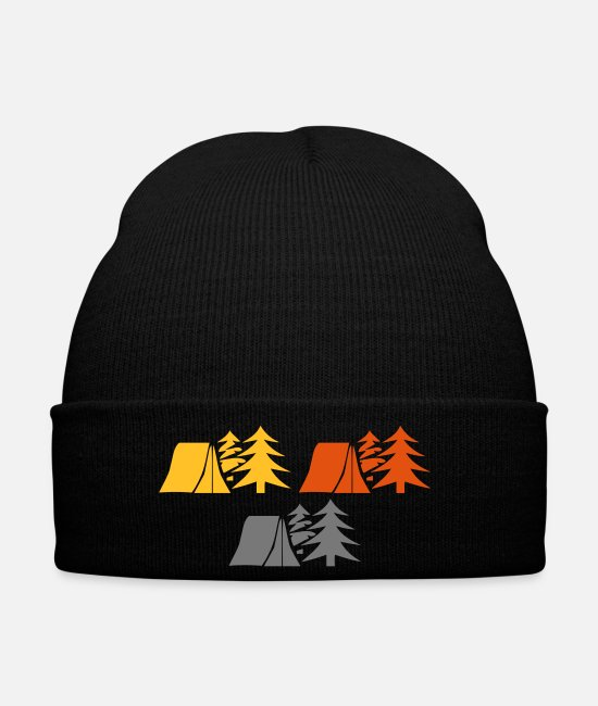Camper Caps & Hats - Camping in the woods - Winter Hat black