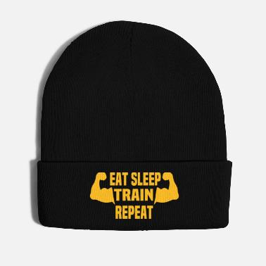 Fitness Eat Sleep Train Repeat! Personalisierbares Design - Wintermütze