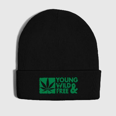 young wild and free weed leaf boxed - Vintermössa