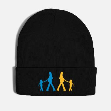 First Day Of School family mother child kindergarten education - Winter Hat