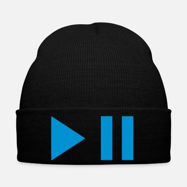 Pause play pause button 202 - Winter Hat
