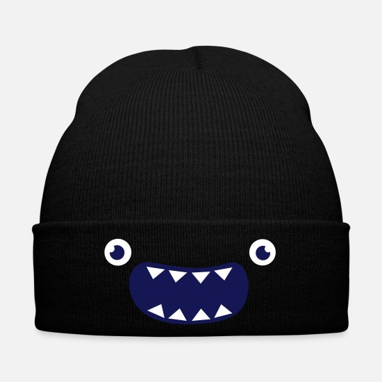 Funny Caps & Hats - Funny Monster Face - Winter Hat black