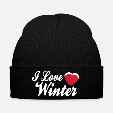 Xmas I love winter with heart 2c - Bonnet d'hiver