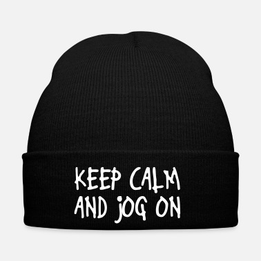 Keep Calm keep calm and jog on - Cappellino invernale