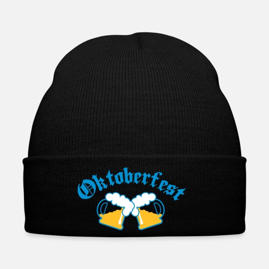 Munich Caps & Hats - Oktoberfest Beer jugs 3c - Winter Hat black