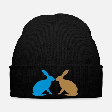 Easter Bunny bunny rabbit together couple love easter - Winter Hat