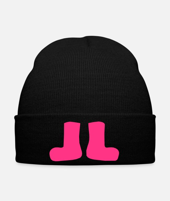 Vector-rain-boots Caps & Hats - ۞»♥♫Lovely Strawberry Pink Rain Boots♪♥«۞ - Winter Hat black