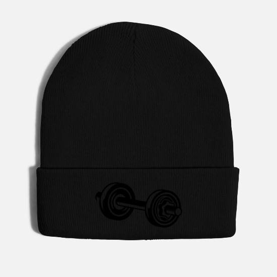 Dumbbell Caps & Hats - A dumbbell for training - Winter Hat black