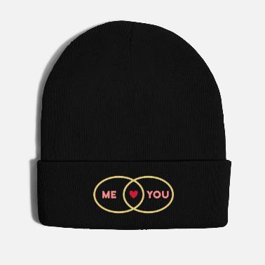 Teacher Intersection Me You Heart (set circles) - Winter Hat