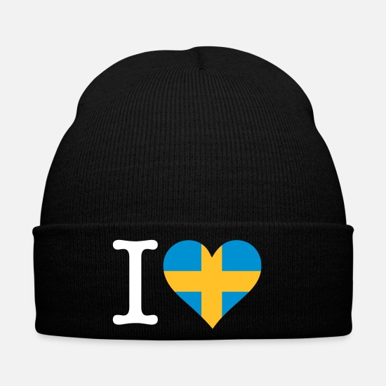 Stockholm Caps & Hats - I Love Sweden - Winter Hat black