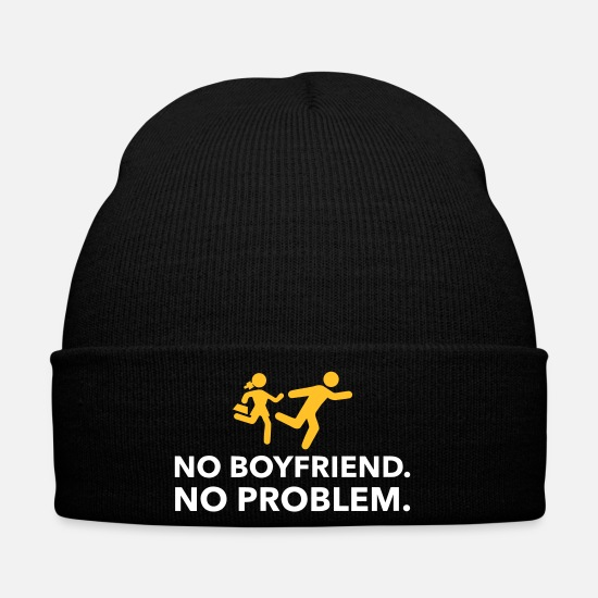 Love Caps & Hats - No Friend. No Problem. - Winter Hat black