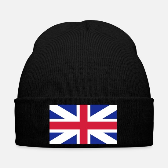London Caps & Hats - United Kingdom Flag - Winter Hat black
