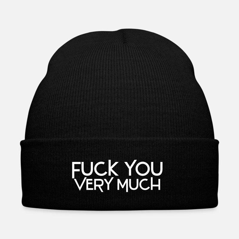 You Casquettes et bonnets - fuck you very much deluxe - Bonnet noir