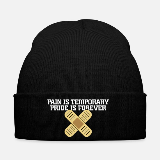 Pain Caps & Hats - Pain Is Temporary. Pride Is Forever! - Winter Hat black