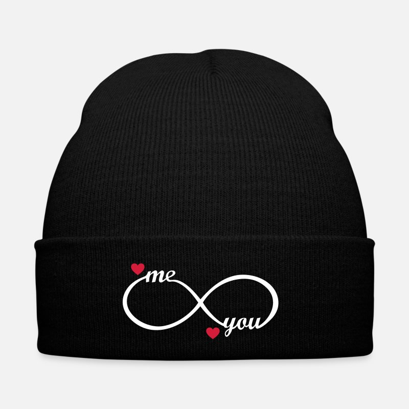 Mum Caps & Hats - Love forever best friends couples mum dad wife  - Winter Hat black