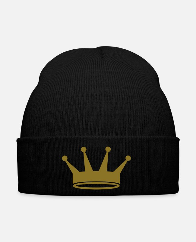 Design Caps & Hats - Crown - King or Prince - Winter Hat black