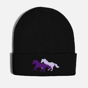 Change Two galloping horses - you can change all colours - Cappello invernale
