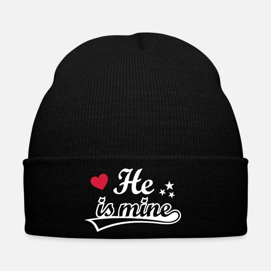 I Love You My Boyfriend Caps & Hats -   I love you my girlfriend  boyfriend - Winter Hat black
