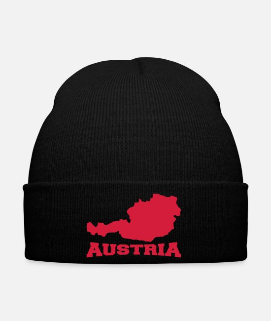 Austria Caps & Hats - Austria Logo - Winter Hat black