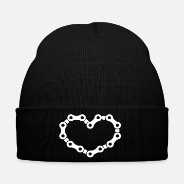 Chain Chains heart for cyclists and cyclists. - Winter Hat