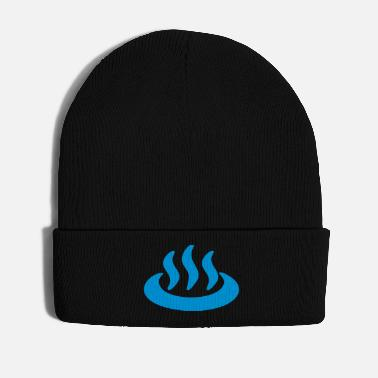 Japanese Sign Onsen ♨ Hot Spring 温泉 Japanese Sign - Winter Hat