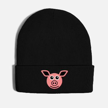 Ungulate ★ design colors changeable ★ face pig - Winter Hat
