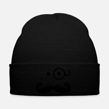 Gentleman gentlemans mustache with glass / sir - Winter Hat