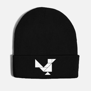 Sparrow Tangram Bird - Winter Hat