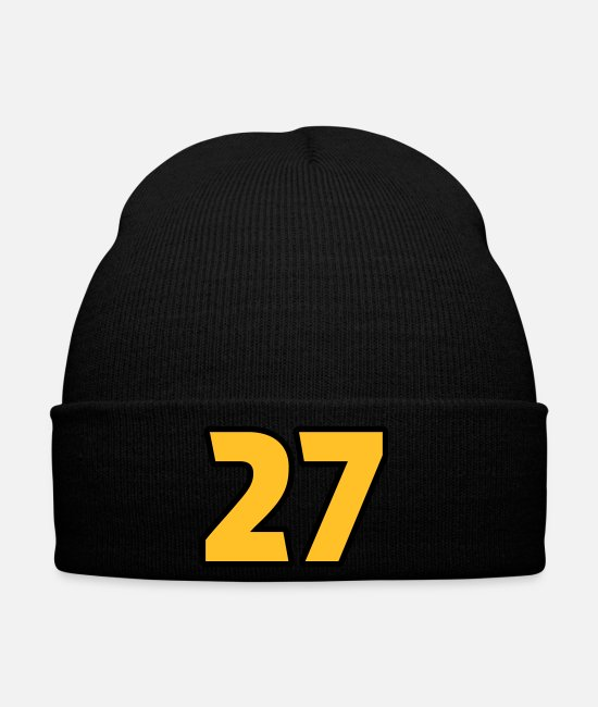 Hipster Caps & Hats - 27 Twenty-Seven Magic Number Feng Shui Numeral - Winter Hat black