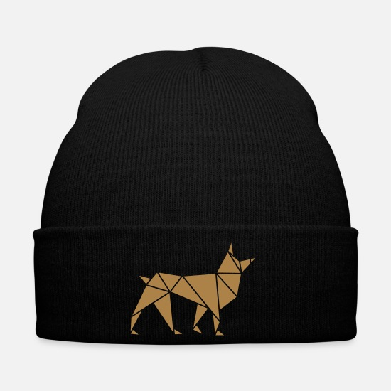 Tinker Caps & Hats - Origami: Wolf - Winter Hat black