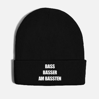 Bass Bass Bässer am Bässten Subwoofer Subs Tanzen Party - Wintermütze