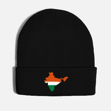 Inde India Map Flag Inde - Bonnet