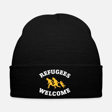 Antifa Refugees Welcome - Bonnet d'hiver