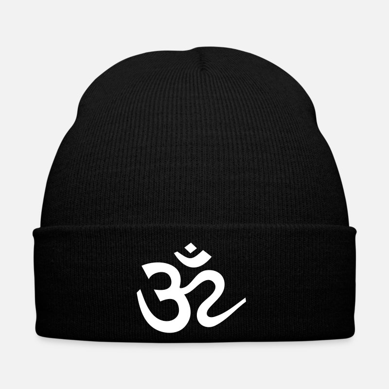 Symbol  Caps & Hats - OM  Mantra Meditation Sanskrit Symbol Buddha Yoga - Winter Hat black