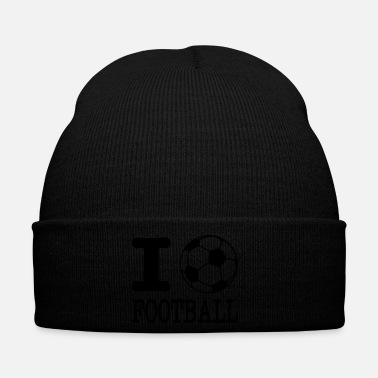 Football Americano i love football with ball - Cappellino invernale