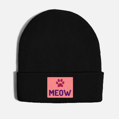 Lynx ★ design colors changeable ★ Meow (paw print) - Winter Hat