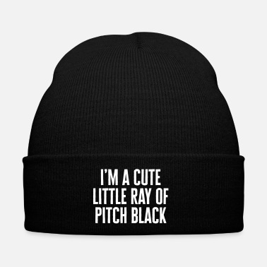 Emo Little Ray Of Pitch Black Funny Quote - Winter Hat
