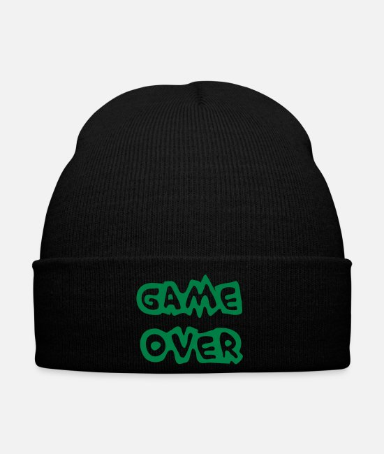 N00b Caps & Hats - Game Over - Winter Hat black