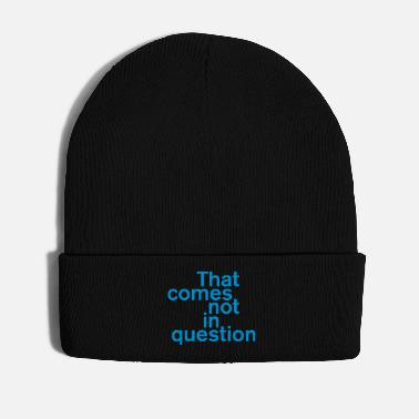 Question That comes not in question - Winter Hat