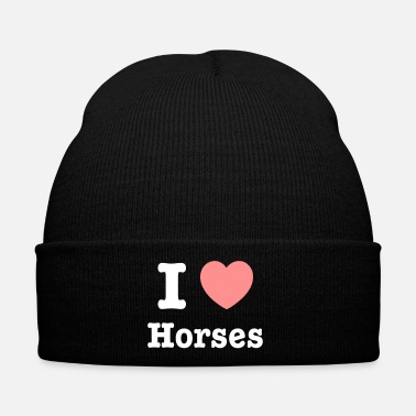 Cavalli This design lets you change all colours - I love Horses - Cappellino invernale