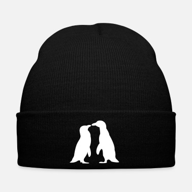 Couple Penguins in love - love each other penguins - Penguins dans l'amour - l'amour les uns les autres pingouins - Bonnet d'hiver