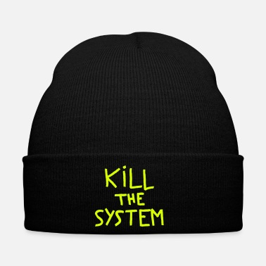 Anarchie kill the system - Bonnet d'hiver