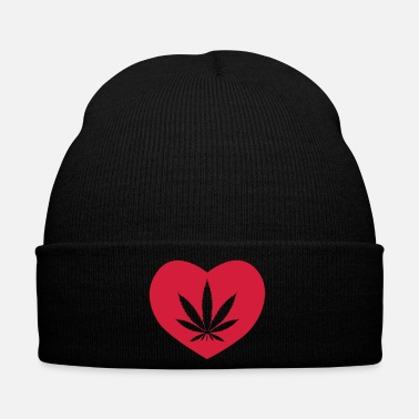 Stoner Weed love 420 cannabis cannabis presina regalo - Cappellino invernale
