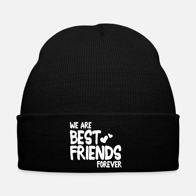 Best Friends Caps & Hats - we are best friends forever i 1c - Winter Hat black